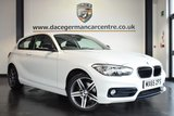 USED 2015 65 BMW 1 SERIES 1.5 116D SPORT 3DR 114 BHP full bmw service history FINISHED IN STUNNING ALPINE WHITE WITH ANTHRACITE UPHOLSTERY + FULL BMW SERVICE HISTORY + BLUETOOTH + SPEED LIMITER + MULTI FUNCTION STEERING WHEEL + ELECTRIC MIRRORS + DAB RADIO + AUX/USB MEDIA + AUTOMATIC LIGHTS + 17 INCH ALLOY WHEELS