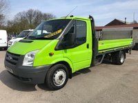2010 FORD TRANSIT T350 115PS LWB EF DROPSIDE PICKUP WITH TAILIFT **NO VAT** £3695.00