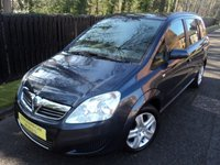 2008 VAUXHALL ZAFIRA 1.6 Exclusiv  7 Seater £SOLD