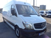 2015 MERCEDES-BENZ SPRINTER 313 CDI LWB HI ROOF, 130 BHP [EURO 5] £SOLD
