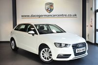 """USED 2014 64 AUDI A3 1.6 TDI SE 5DR 109 BHP FINISHED IN STUNNING AMALFI WHITE WITH CLOTH UPHOLSTERY + BLUETOOTH + DAB RADIO + HEATED MIRRORS + AUX/USB PORT + AIR CON + FOG LIGHTS + PARKING SENSORS + 16"""" ALLOY WHEELS"""