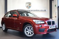 "USED 2012 12 BMW X1 2.0 SDRIVE20D M SPORT 5DR AUTO 174 BHP full bmw service history FINISHED IN STUNNING VERMILLION METALLIC RED WITH FULL BLACK LEATHER INERIOR + FULL BMW SERVICE HISTORY + SATELLITE NAVIGATION  + REVERSE CAMERA + PANORAMIC ROOF + HEATED SPORT SEATS + PARKING SENSORS + RAIN SENSORS + AUTO AIR CON + M SPORT PACKAGE + 17"" ALLOY WHEELS"