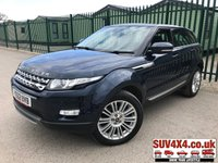 USED 2012 62 LAND ROVER RANGE ROVER EVOQUE 2.2 SD4 PRESTIGE 5d AUTO 190 BHP 4WD SAT NAV LEATHER  4WD. SATELLITE NAVIGATION. PANORAMIC SUNROOF. STUNNING BLUE MET WITH FULL BLACK LEATHER TRIM. ELECTRIC HEATED MEMORY SEATS. CRUISE CONTROL. 19 INCH ALLOYS. COLOUR CODED TRIMS. PARKING SENSORS. REVERSING CAMERA. BLUETOOTH PREP. CLIMATE CONTROL INCLUDING AIR CON. MULTIMEDIA SYSTEM. R/CD/DAB RADIO. MFSW. MOT 02/20. PRESTIGE SUV CENTRE - LS24 8EJ. TEL 01937 849492 OPTION 1