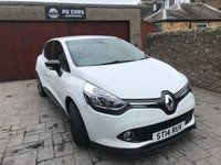 USED 2014 14 RENAULT CLIO 0.9 DYNAMIQUE S MEDIANAV ENERGY TCE S/S 5d 90 BHP ONLY £20 TAX+NAV+B/TOOTH+CRUISE+FSH+1 YR MOT