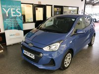 USED 2017 67 HYUNDAI I10 1.0 SE 5d 65 BHP This one lady owner i10 is finished in Blue with Black cloth seats. It is fitted with power steering, Bluetooth/DAB radio, remote locking, electric windows and mirrors, air conditioning, cruise control, wheel trims,  Aux & USB port and more. It has had one lady owner from new, benefits from the balance of Hyundai warranty (expires 31/10/2022) and comes with a service history consisting of one stamp done at 6245 miles. The Mot will be due on 31/10/2020.  Save ££ on new.