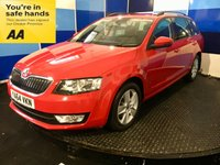 "USED 2015 64 SKODA OCTAVIA 2.0 SE BUSINESS TDI CR 5d 148 BHP A truely stunning example of this very highly soughtafter family diesel estate finished in unmarked bright red paintwork complimented with 16"" 5 spoke alloy wheels this car comes equiped with touch screen satelite navigation,voice control system,bluetooth phone conectivity,front and rear fog lamps,tyre pressure monitoring system,dab cd radio with usb/aux and sd imputs,onboard computer,,cool glove box,start stop plus all the usual refinements. Road tax of only twenty pound,combined mpg of 67.3 ."