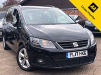 USED 2017 17 SEAT ALHAMBRA 2.0 TDI SE LUX 5dr AUTO 184 BHP Full Seat History, Electric doors, Full Leather, Pan Roof.