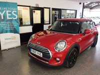 "USED 2015 15 MINI HATCH ONE 1.5 ONE D 3d 94 BHP Fitted with a pepper pack, this Mini One Diesel is finished in Midnight Blazing red with body coloured mirror caps with black cloth trim. It has a big specification. It is fitted with power steering, visual boost, remote locking, electric windows and mirrors,climatic air con, Bluetooth, chrome line exterior/interior, tinted glass, isofix, fogs, cruise control, Bluetooth, day lights, rain sensor, 16"" Black alloy wheels, Mini Mood lighting, USB - Aux - DAB - CD Stereo and more."
