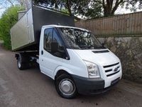 2007 FORD TRANSIT 2.4 350 MWB T350M RWD 1d 100 BHP SINGLE CAB TIPPER ARB CHIPPER £10995.00