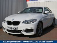 USED 2015 65 BMW 2 SERIES 1.5 218I M SPORT 2d AUTO 134 BHP FULL DEALER SERVICE HISTORY - 1 FORMER KEEPER