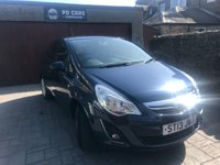 USED 2013 13 VAUXHALL CORSA 1.0 ENERGY ECOFLEX 3d 64 BHP LOW MILES+£30 TAX+FSH+MOT FEB 2020