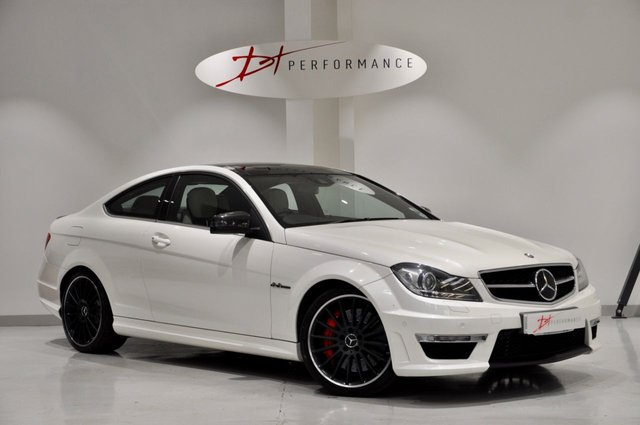 2012 62 MERCEDES-BENZ C CLASS 6.2 C63 AMG 2d AUTO 457 BHP PERFORMANCE PACK PLUS 1 OWNER