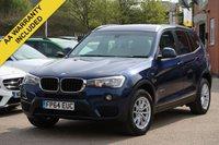 USED 2014 64 BMW X3 2.0 XDRIVE20D SE 5d AUTO 188 BHP BMW SERVICE HISTORY , AUTOMATIC