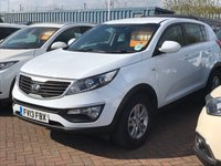 USED 2013 13 KIA SPORTAGE 1.6 1 5 DOOR ARCTIC WHITE 133 BHP JUST ARRIVED PROBABLY THE CHEAPEST OUT THERE