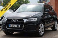 USED 2016 16 AUDI Q3 2.0 TDI S LINE 5d 148 BHP FULL AUDI SERVICE HISTORY ELECTRIC TAILGATE