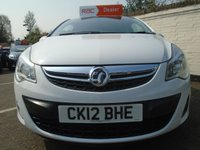 USED 2012 12 VAUXHALL CORSA 1.0 S ECOFLEX 3d 64 BHP GUARANTEED TO BEAT ANY 'WE BUY ANY CAR' VALUATION ON YOUR PART EXCHANGE