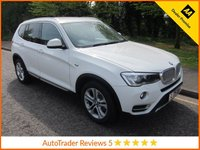 USED 2015 15 BMW X3 2.0 XDRIVE20D XLINE 5d AUTO 188 BHP. ULEZ COMPLIANT. EURO 6 Fantastic Value BMW X3 Automatic With Full Leather, Satellite Navigation, Climate Control, Cruise Control, Alloy Wheels and Service History. This Vehicle is ULEZ Compliant with a EURO 6 Rated Engine.