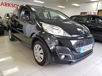 USED 2013 13 PEUGEOT 107 1.0 ACTIVE 5d+LOW MILEAGE+SERVICE HISTORY+BLACK+LOW INSURANCE+