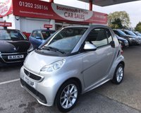 2012 SMART FORTWO CABRIO 1.0 PASSION MHD 2d AUTO 71 BHP *ONLY 33,000 MILES* £4995.00
