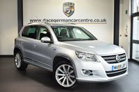 """USED 2009 59 VOLKSWAGEN TIGUAN 2.0 R LINE TDI 4MOTION 5DR 138 BHP full service history FINISHED IN STUNNING REFLEX SILVER WITH CLOTH UPHOLSTERY + FULL SERVICE HISTORY + SPORT SEATS + HEATED MIRRORS + AUXILIARY PORT + AIR CONDITIONING + PARKING SENSORS + 19"""" ALLOY WHEELS"""