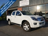 USED 2016 16 ISUZU D-MAX 2.5 TD UTAH DCB 4d 164 BHP ONE FORMER KEEPER, ROLL TOP LOAD COVER, PARKING SENSORS, FULL LEATHER, AIR CONDITIONING, ISUZU SERVICE HISTORY