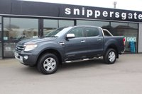 USED 2014 63 FORD RANGER 2.2 LIMITED 4X4 DCB TDCI 1d AUTO 148 BHP Sat Nav, Heated Black Leather, Canopy Cover