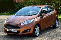 USED 2013 63 FORD FIESTA 1.0 ZETEC 5d 99 BHP 1 OWNER, £0 TAX, FORD HISTORY, BLUETOOTH, 2 KEYS, MOT OCT 2019