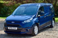 USED 2016 16 FORD TRANSIT CONNECT 1.6 210 TREND P/V 1d 94 BHP 1 OWNER, FFSH, BLUETOOTH, DAB, SIDE LOADING AND TWIN BARN DOORS