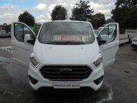 2018 FORD TRANSIT CUSTOM NEW SHAPE TOP OF RANGE ( EURO 6 )  2.0,TDCI 130 BHP LIMITED P/V L1 H1 ONLY 16,000 MILES MAIN DEALER WARRANTY TILL 08 / 05 / 2021 ((( FINANCE AVAILABLE ))) £15995.00