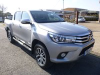 USED 2017 17 TOYOTA HI-LUX Double Cab 2.4 Invincible 4WD D-4D 150ps AUTO Leather & Nav