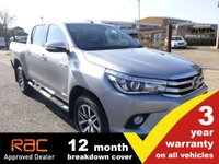 USED 2017 17 TOYOTA HI-LUX Double Cab 2.4 Invincible 4WD D-4D 150ps AUTO (Leather & Sat Nav)