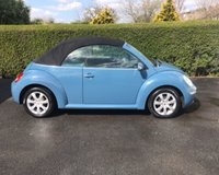 USED 2007 56 VOLKSWAGEN BEETLE 2.0 CABRIOLET 8V 2d 114 BHP LOVELY EXAMPLE OF THIS VW BEETLE CONVERTIBLE IN VERY RARE WAIMEA BLUE PEARL WITH BLACK HOOD