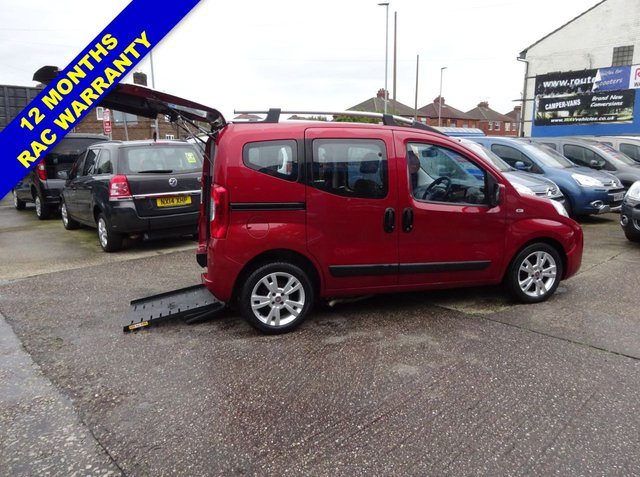 USED 2011 11 FIAT QUBO 1.2 MULTIJET DYNAMIC DUALOGIC 5d AUTO 75 BHP WHEELCHAIR ACCESSIBLE WAV SIRUS Switch Conversion Drive from Wheelchair