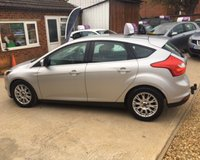 USED 2012 61 FORD FOCUS TITANIUM TDCI 115 MOT 28th FEBRUARY 2020, NO ADVISORIES - PART SERVICE HISTORY - 2 OWNERS, LAST LADY OWNER FROM 2013 - 3 MONTHS WARRANTY - £30 PER YEAR TAX - TOW BAR - CRUISE CONTROL - CLIMATE CONTROL - DAB RADIO - BLUETOOTH - USB - AUX - AUTO LIGHTS