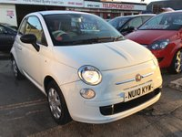 USED 2010 10 FIAT 500 1.2 POP 3d 69 BHP Low milage, low road tax, economical, great value.