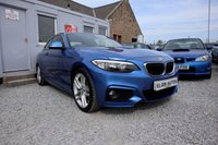 USED 2015 65 BMW 2 SERIES 218d M Sport 2.0TD 2dr ( 150 bhp ) One Previous Owner Low Mileage Stunning Colour Only £30 Road Tax