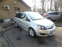 USED 2013 63 VAUXHALL ZAFIRA 1.6 EXCLUSIV 5d 113 BHP * FULL VAUXHALL SERVICE HISTORY * 5 STAMPS * 2 KEEPERS * 2 KEYS *