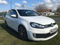 USED 2012 62 VOLKSWAGEN GOLF 2.0 GTD TDI DSG 5d AUTO 170 BHP CANDY WHITE HEATED BLACK LEATHER LOW MILES