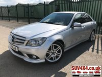 USED 2009 09 MERCEDES-BENZ C CLASS 2.1 C220 CDI SPORT 4d AUTO 168 BHP (2009) ALLOYS LEATHER CRUISE PRIVACY MOT 11/19 09 REG. STUNNING SILVER MET WITH FULL CREAM LEATHER TRIM. CRUISE CONTROL. 17 AMG INCH ALLOYS. COLOUR CODED TRIMS. PRIVACY GLASS. BLUETOOTH PREP. CLIMATE CONTROL. R/CD PLAYER. MFSW. MOT 11/19. SERVICE HISTORY. SUV & 4X4 CAR CENTRE LS23 7FR. TEL 01937 849492. OPTION 2