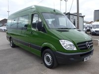 USED 2007 07 MERCEDES-BENZ SPRINTER 311 CDI LWB AUTOMATIC 15 SEATER TRAVELINER, 109 BHP