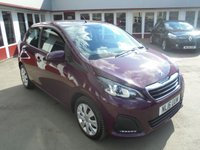 USED 2016 16 PEUGEOT 108 1.0 ACTIVE 5d 68 BHP Retail price £6495,with £500 minimum part exchange allowance,balance price £5995.