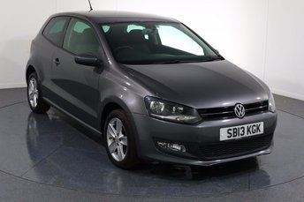 2013 VOLKSWAGEN POLO 1.2 MATCH EDITION 3d 59 BHP £5995.00