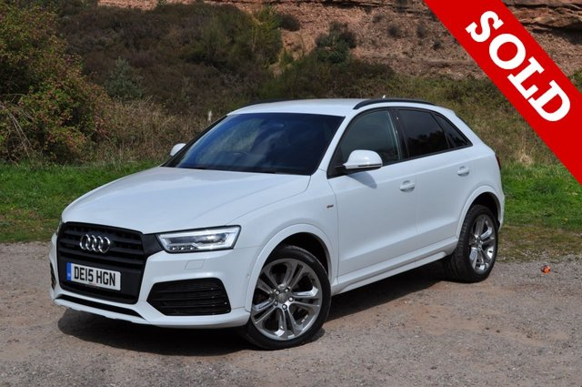 USED 2015 13 AUDI Q3 2.0 TDI QUATTRO S LINE PLUS 5d AUTO 182 BHP new shape  nav leather