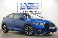 2016 HONDA CIVIC 1.3 I-VTEC SE PLUS + NAV 5 DOOR 100 BHP £11190.00