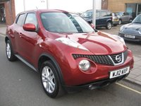USED 2012 12 NISSAN JUKE 1.6 ACENTA PREMIUM 5d 117 BHP only 50261 miles, climate control, alloys, satellite navigation, parking camera, cruise control, service history.