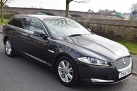 USED 2014 14 JAGUAR XF 2.2 D LUXURY SPORTBRAKE 5d ESTATE AUTO 163 BHP DEALER HISTORY, SAT NAV, DAB RADIO, LEATHER UPHOLSTERY, REAR PRIVACY GLASS