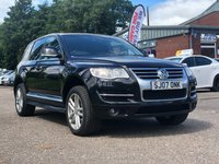 USED 2007 07 VOLKSWAGEN TOUAREG 3.0 V6 ALTITUDE TDI 5d 221 BHP NAVIGATION SYSTEM *  LEATHER TRIM *  FRONT AND REAR PARKING AID *  HEATED SEATS *