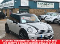 USED 2012 MINI HATCH COOPER 1.6 COOPER Chili/Sport Pack White Silver Metallic with Black Roof 3 door 122 BHP Stunning Mini with 50047 miles FSH And Great Spec Inc Climate & Cruise Control Privacy Glass and lots more