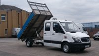 2014 MERCEDES-BENZ SPRINTER 2.1 313 CDI LWB DCB 1d 129 BHP 7 SEATER CREW CAB TIPPER 1 OWNER F/S/H FREE 12 MONTHS WARRANTY COVER  £8790.00