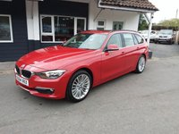 USED 2014 BMW 3 SERIES 2.0 320D LUXURY TOURING 5d AUTO 181 BHP FINANCE AND PART EXCHANGE WELCOME. 3 MONTHS WARRANTY. ALL CARS HAVE A YEAR MOT AND A FRESH SERVICE.